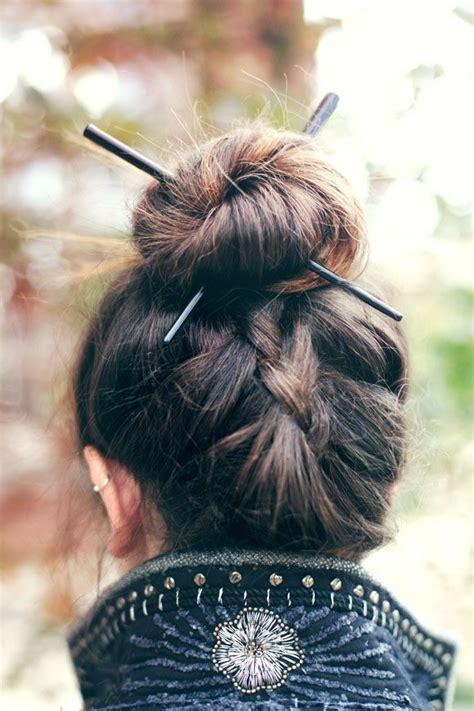 plaiting hair using chopsticks 25 best ideas about chopstick hair on pinterest