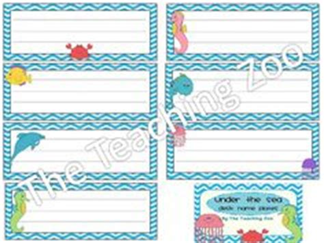 ocean themed desk name tags set of cubbies and work 1000 images about ocean theme classroom on pinterest
