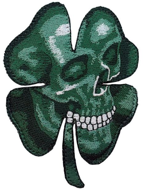 Tattoo Camo Ireland | irish clover shamrock camo green skull biker celtic patch