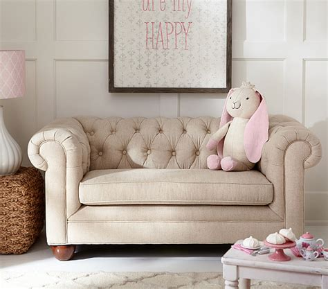 kids mini sofa chesterfield mini sofa pottery barn kids