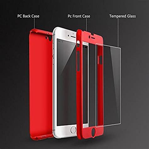 360 Iphone 7 Free Tempered Glass Hardcase iphone 7 plus 5 5 inch auroralove 360 degree protective slim sleek