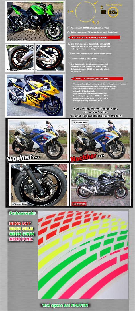 Bester Motorrad Online Shop by Neon Gp Felgenrandaufkleber Felgenaufkleber Auto