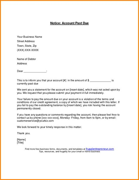 Sle Credit Account Letter 28 Sle Past Due Invoice Letter Past Due Letter Invoice