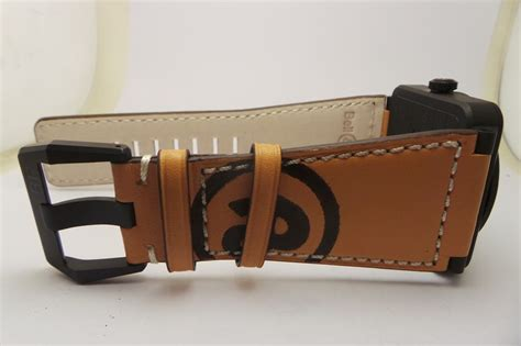 Bellross Br03 94 Black White Brown Leather Bell Ross Spot On Replica Watches And Reviews