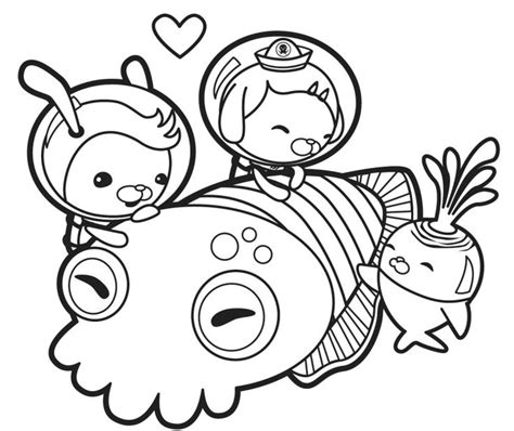 Gup X Coloring Page by 218 Best Images About Octonauts On