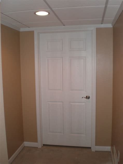 insulated basement door white building insulated