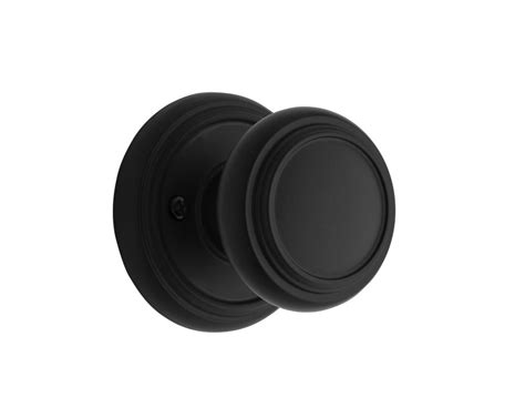 Inactive Door Knobs by Weiser Weiser Wickham Inactive Knob Iron Black Finish