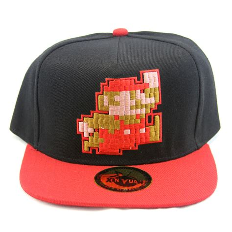 How To Make A Mario Hat Out Of Paper - mario bros baseball cap 8 bit mario new snapback