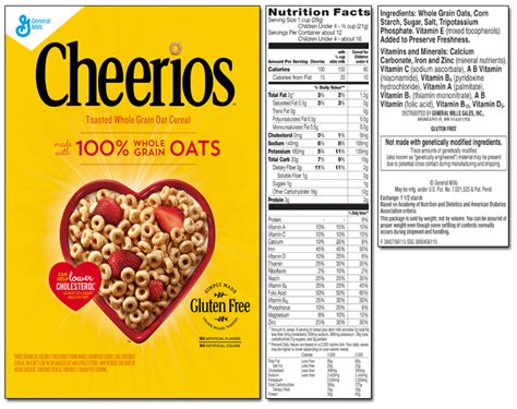 whole grains nutritional value original cheerios