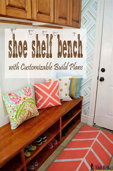 shoe shelf bench shoe shelf bench her tool belt