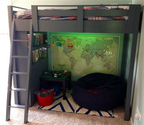ana white floating bunk beds and desk diy projects ana white loft bed with shelves diy projects