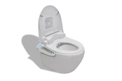 bidet wc bril wandtoilet wit ovaal met elektronische bidet wc bril