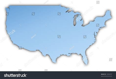 united states map projection united states map light blue map stock illustration