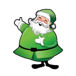 a green santa and a hug of love plum village
