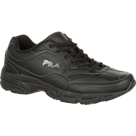 slip resistant athletic shoes fila on the slip resistant work athletic shoe f1sc60219