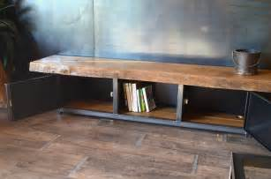 meuble banc tv bois massif artzein