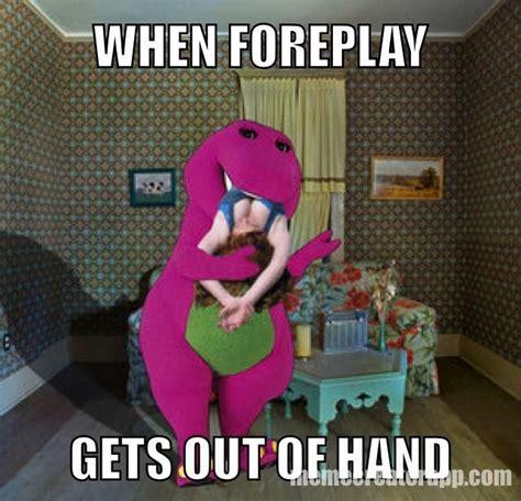 Barney The Dinosaur Meme - barney and foreplay my rude barney meme pinterest