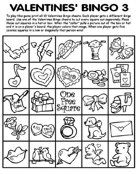 crayola free coloring pages holidays valentine s day valentine s bingo 3 crayola co uk
