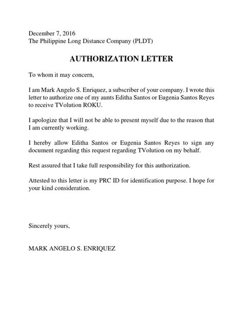 authorization letter pag ibig resume cover letter template residency thank you