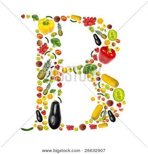 letter b vegetables letter quot b quot made fruit vegetable image photo bigstock