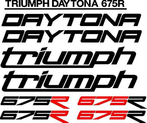 Aufkleber Triumph Logo by Triumph Daytona 675r Sticker Decals Kits Johannesburg