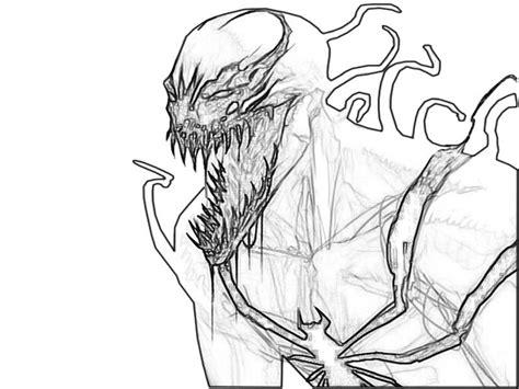 venom coloring pages venom free coloring pages