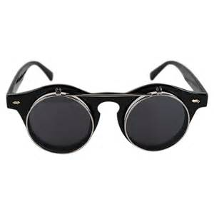 cool glasses punk 2in1 round best frame cool sunglasses plain glasses unisex anti uv goggles ebay