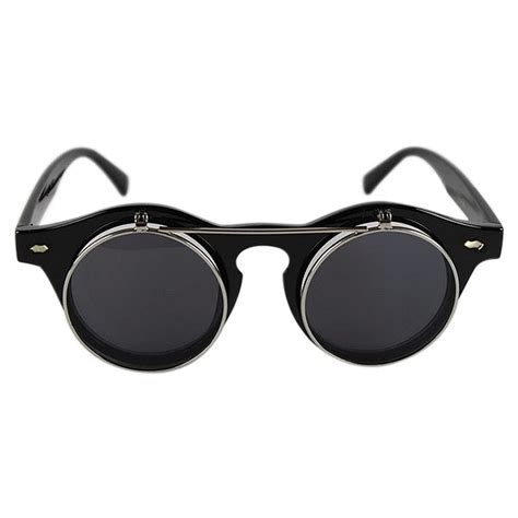 click for some awesome sunglasses punk 2in1 round best frame cool sunglasses plain glasses