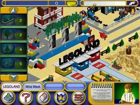 theme park maker download legoland pc cd rom game play 1 youtube