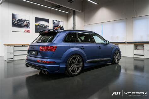 Audi Q7 Abt by Audi Q7 And Sq7 Get Abt Widebody Kit And Vossen Forged