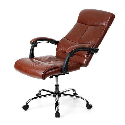 ergonomic leather adjustable office chair coffee ikayaa adjustable ergonomic pu leather executive