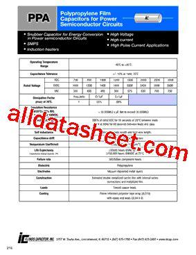 capacitor datasheet pdf 224ppa302ks datasheet pdf illinois capacitor inc