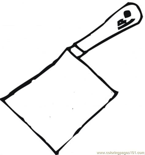 coloring pages knife butcher knife coloring page free kitchenware coloring