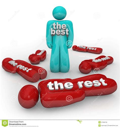 one winner of the the best wins vs the rest one winner stands alone royalty free stock images image 27636759
