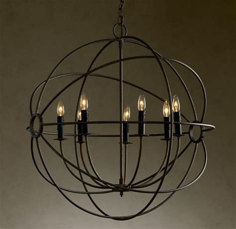 Foucault Single Orb Chandelier Canalside Interiors Accessories Cool Lighting Rustic Irons And Entryway