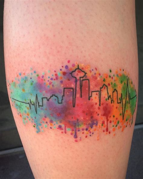 watercolor tattoos cincinnati 25 best ideas about seattle skyline on