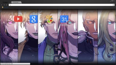 google themes jojo jojo villains chrome theme themebeta