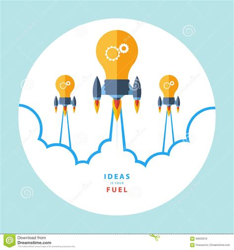 design new idea ideas is your fuel flat design colorful vector