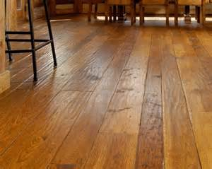 hickory wide plank flooring throughout home ideas