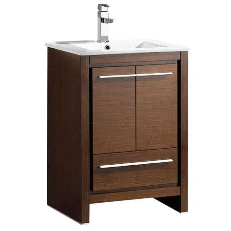 fresca vanity fresca allier 24 in bath vanity in wenge brown with