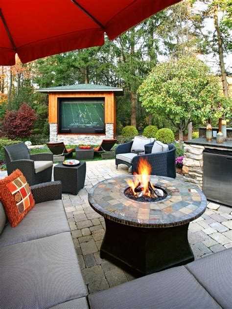 Backyard Theater Ideas Wonderful Backyard With A Pit And Tv Theater Room Ideas The Giants Decks