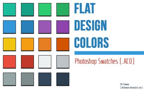 flat design effect photoshop flat design colors photoshop swatches by dhshawon on