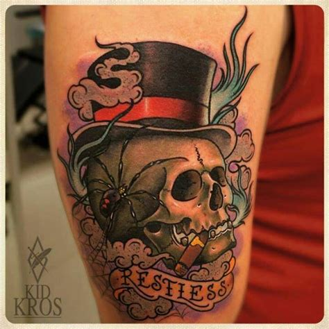 tattoo cigars skull a cigar
