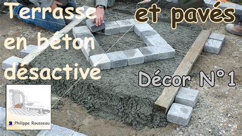 Comment Faire Beton Desactive 4113 by Faire Du B 233 Ton D 233 Sactiv 233 Et Pose De Pav 233 S Partie 3