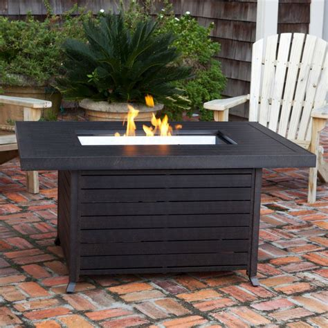 Patio Rectangle Table Firepit Modern Google Search Patio Pit Table