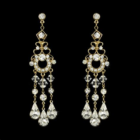 swarovski bridal chandelier earrings bridal hair