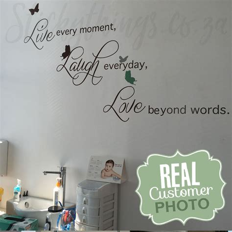 live laugh wall stickers live laugh wall sticker quote decal from