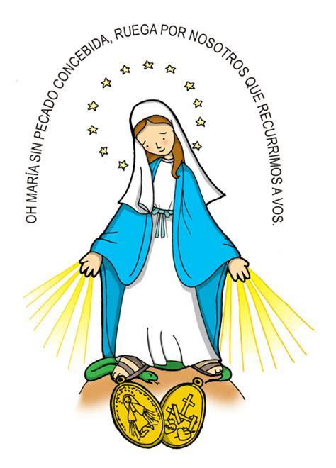 imagenes de la virgen maria de caricatura dibujos para catequesis nuestra se 209 ora de la medalla
