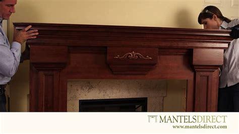 wood fireplace mantel surround installation