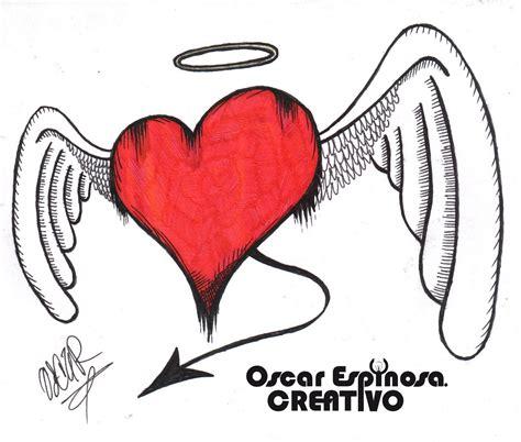 dibujos a lapiz de corazones con alas aida santiago